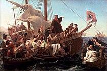 Christopher Columbus on Santa Maria in 1492..jpg