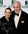 Christopher Lee and Birgit Kroencke, Women's World Awards 2009.jpg
