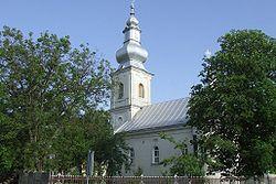 Church in Supur village (Satu Mare County, Romania).jpg