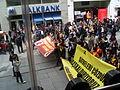 Cierre de manifestación estudiantil en Istikal, Estambul, Turquía, abril de 2011.JPG