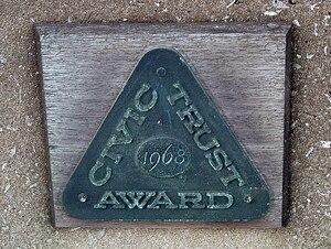 Civic Trust Awards - Civic Trust Award plaque on the Severn Bridge.