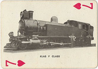 South African Class F 4-6-4T - Image: Class F 81 (4 6 4T) CSAR 263 Playing Cards