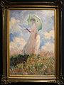 Claude monet, esempio di pittura en plen-air, donna con ombrello girata verso destra, 1886, 01.JPG