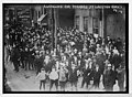 Cleveland trolley car strikers at Lakeview barns LCCN2014680440.jpg
