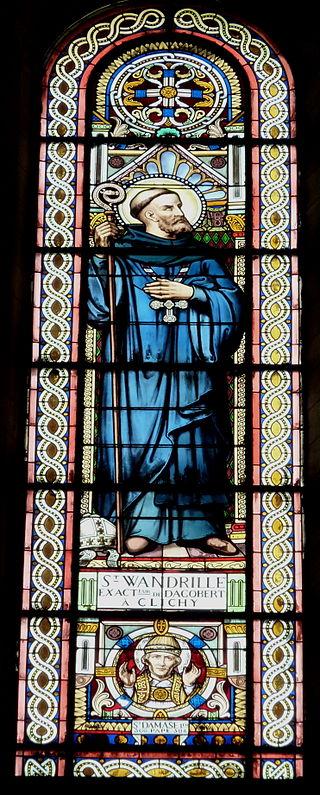 Den hellige Wandregisel, glassmaleri fra kirken Saint-Vincent-de-Paul i Clichy