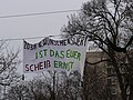 Climbing protest with banner at the Invalidenpark 03.jpg