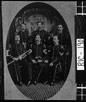 5th Georgia Volunteer Infantry - Officers of the 5th Georgia Volunteer Infantry Regiment are pictured in this photo.