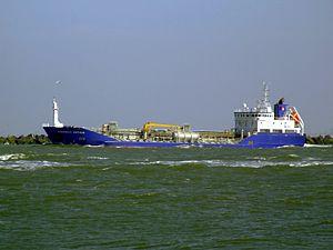 Cobalt Water IMO 9366744 leaving Port of Rotterdam, Holland 19-Apr-2007.jpg