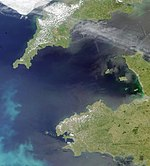 Satellite view of the Celtic Sea