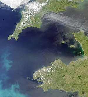 Channel Dash - Image: Coccoliths in the Celtic Sea NASA