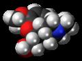 Codeine molecule spacefill.png