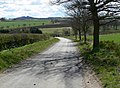 Colbaulk Road descends towards Hungarton - geograph.org.uk - 762228.jpg
