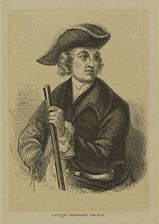 Benjamin Church (ranger) American carpenter, military officer, and Ranger during Americas Colonial era