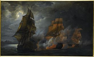Action of 20 October 1778 - Action of the French ship 'Triton against the Jupiter and the Medea