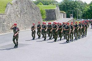 1st Marine Infantry Parachute Regiment - Marching parade companies of the 1<sup>er</sup> R.P.I.Ma.