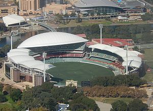 Norwood–Port Adelaide rivalry - Image: Completed Adelaide Oval 2014 cropped and rotated