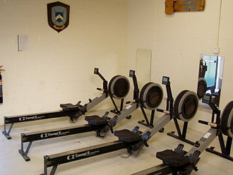 """Concept2 - A row of Concept2 """"Model C"""" indoor rowers"""