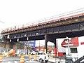 Conduit installation along a train bridge located in Woodside, Queens. (CQ033, 11-05-2017) (24440516448).jpg