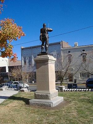 Confederate Memorial in Nicholasville - Image: Confederate Memorial in Nicholasville back