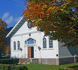 National Register of Historic Places listings in Delaware County, New York - Image: Congregation B'Nai Israel, Fleischmanns, NY