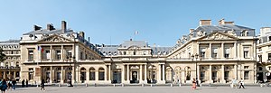 Administrative court - The Conseil d'Etat  in Paris  is the Supreme Administrative court in France .
