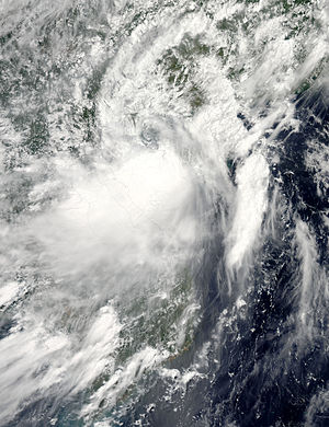 Typhoon Conson (2010) - Tropical Storm Conson over the Gulf of Tonkin on July 17