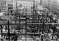 Construction of the William Rust building showing steel structure of first floors, Tacoma, May 7, 1920 (WASTATE 3372).jpeg