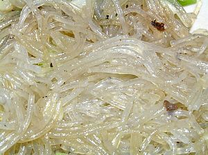 Cellophane noodles - Cellophane noodles have a translucent appearance when cooked. They are generally much longer than rice vermicelli.
