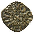 Copper alloy styca of King Osberht (YORYM 2001 3265) obverse.jpg
