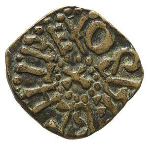 Osberht of Northumbria - Copper alloy of styca of King Osberht