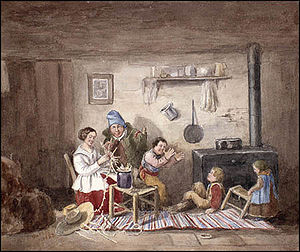 Habitants, painting by Cornelius Krieghoff