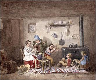 Habitants - Habitants by Cornelius Krieghoff (1852)