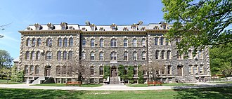 Morrill Hall (Cornell University) - Image: Cornell Morrill Hall photostitch rectilinear corrected May 2009