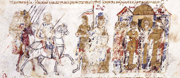 Coronation of Basil the Macedonian as co-emperor (right) Coronation of Basil the Macedonian as co-emperor.png