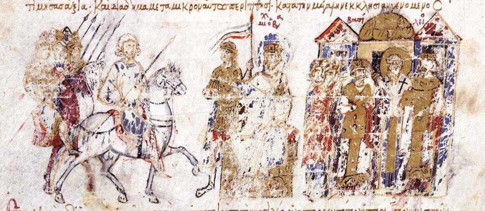 Coronation of Basil the Macedonian as co-emperor