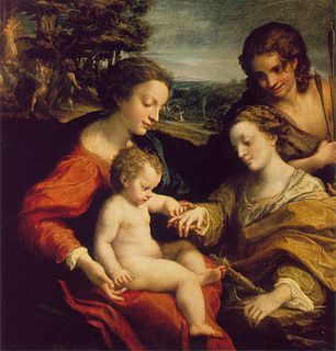 painting by Antonio da Correggio