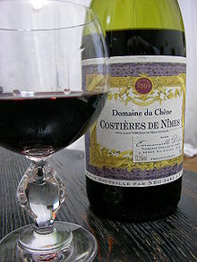 Costières de Nîmes red wine and bottle.jpg