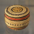 Covered Basket, Makah people, Northwest Washington, undated, twined bear grass, cedar bark, sedge - Chazen Museum of Art - DSC01843.JPG