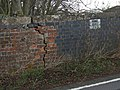 Crack in Mill Lane railway bridge - geograph.org.uk - 1584962.jpg