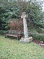 Cross in churchyard of Shillingford St George - geograph.org.uk - 1149475.jpg