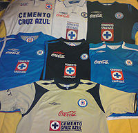 74528802b02 Uniforme del Cruz Azul Fútbol Club - Wikipedia