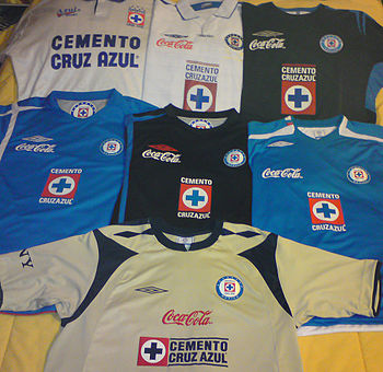 Cruz Azul jerseys