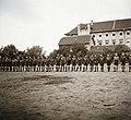 Cserkészek felsorakoztak a Budai Ciszterci Szent Imre Gimnáziumnál, 1939. Fortepan 92376.jpg