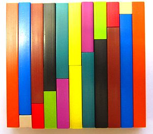 Cuisenaire rods - Cuisenaire rods in a staircase arrangement