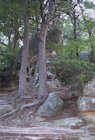 National Register of Historic Places listings in Bell County, Kentucky - Image: Cumberland Pinnacle Rock