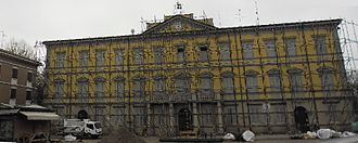 Concordia sulla Secchia - The town hall after the 2012 earthquake.