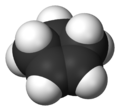 Space-filling model of cyclopentene