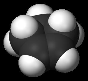 Cyclopentene - Image: Cyclopentene 3D vd W