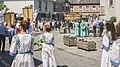 Début de la procession à la grand place de Lebbeke.jpg