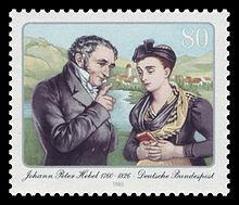 80-Pf-Briefmarke der Deutschen Bundespost zu Hebels 225.Geburtstag (1985) (Quelle: Wikimedia)